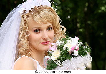 Bride - Young beautiful bride with blond hair