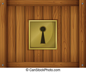 A door lock - Illustration of a door lock