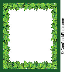 A border made of leaves