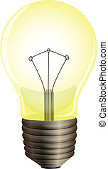 A yellow bulb - Illustration of a yellow bulb on a white...