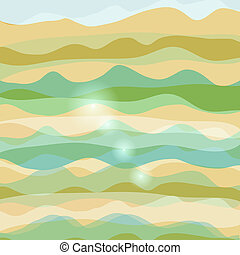 Abstract background with waves pastel colors