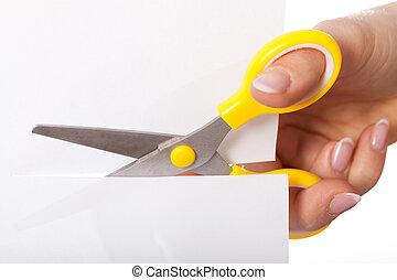 tesouras, corte, papel
