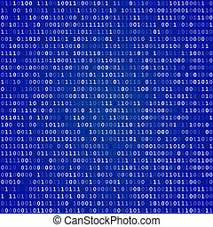 Blue screen binary code screen - Blue screen of death...