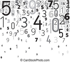 Vector background from numbers - Vector gray black colored...