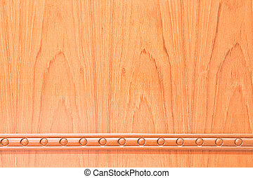 Carving wood on wooden wall,Texture for background