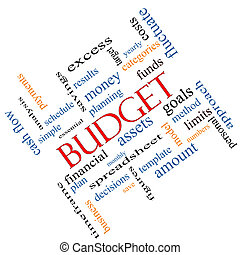 Budget Word Cloud Concept Angled - Budget Word Cloud Concept...