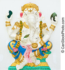 Indian or Hindu God Named Bhakti Ganapati at Wat Saman,...