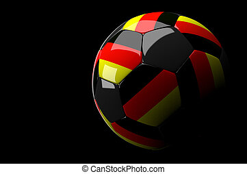 Germany soccer ball on dark background