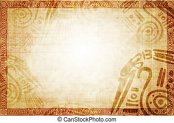 American Indian traditional patterns - Background with...