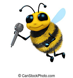 3d Bee sings