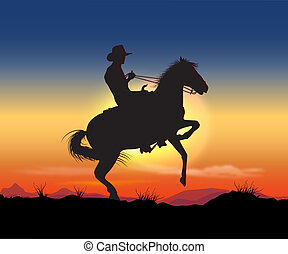 gaucho - night on the prairie cowboy rides