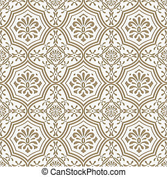 Vector seamless paper cut floral pattern, indian style -...