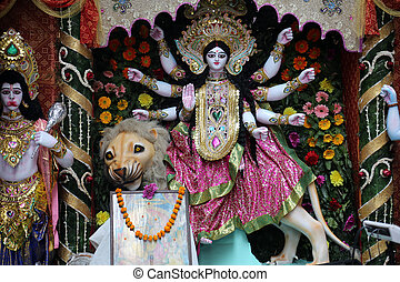 Goddess Durga is popular amongst Hindu Bengalis, and is...