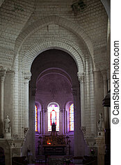 Collegiale St-Ours beside castle of Loches Loire Valley...