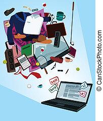 online shop for men - illustration of online shop for men by...