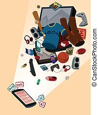 online shop for boys - illustration of online shop for boys...