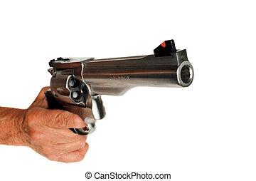 44, magnum, Handgun, revólver, isolado