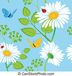 Seamless floral pattern - Vector illustration of Seamless...