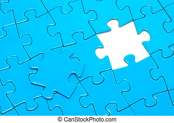 blue puzzles for background business concept