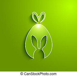 Easter rabbit egg gift