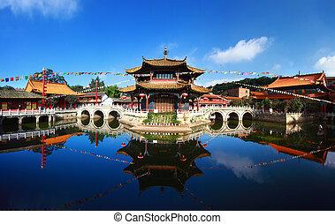 Yuantong Kunming Temple panorama, Kunming capital city of...