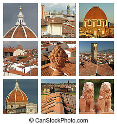 terracotta of Florence collage