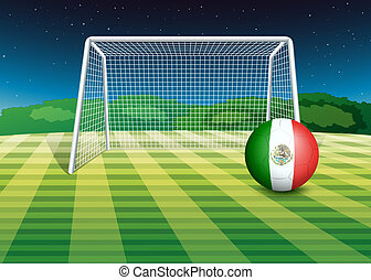 A ball with the flag of Mexico