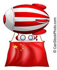 A balloon with the Chinese flag
