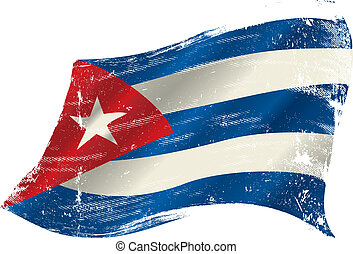 cuban grunge flag - A grunge cuban flag in the wind for you