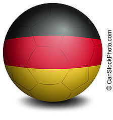 A ball with the flag of Germany