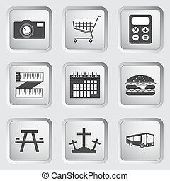 Icons on the buttons for Web Design. Set 3 - Icons on the...
