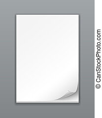 Empty Paper Stack on white background