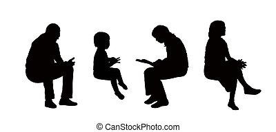 Clip art et illustrations de assis 19 946 graphiques - Dessin bonhomme assis ...