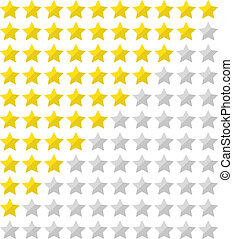 Flat star rating - Star rating for 0 - 10 stars in flat...