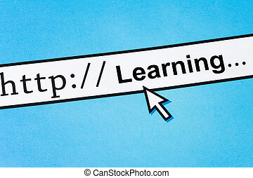 Online Learning - Computer Screen, concept of Online...