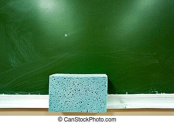 green school board as background