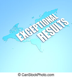 Exceptional results world map