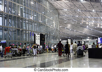 Kolkata airport - The new terminal of International...