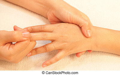 reflexology Hand massage, spa hand treatment,Thailand