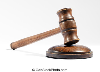 Wooden gavel as used by a judge or auctioneer