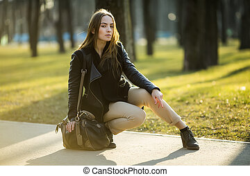 portrait of a girl in the park