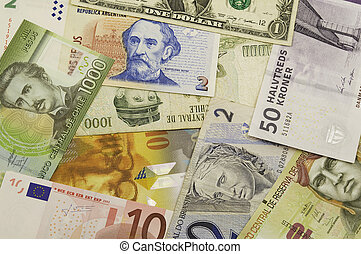 banknotes from different countries - banknotes from...