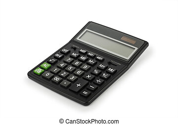 Electronic calculator - Black electronic calculator,...
