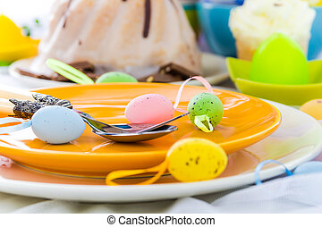 Tableware one person Easter table - Tableware for one person...
