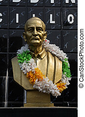 Monument of Girish Chandra Bose in Kolkata - Monument of...