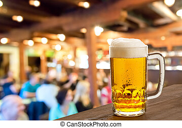 Beer Glass - a beer on tap  in the pub