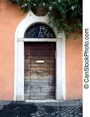 Door in the Trastevere district in Rome