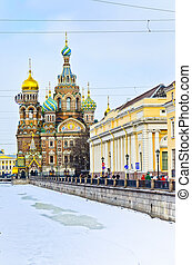 Church on Spilled Blood Saint-Petersburg Russia