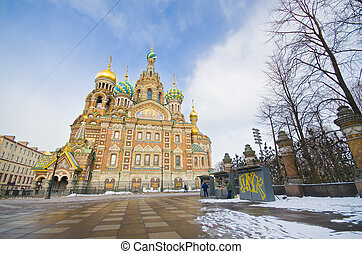 Church on Spilled Blood. Saint-Petersburg. Russia - Church...