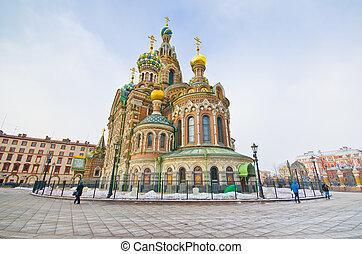 Church on Spilled Blood. Saint-Petersburg. Russia - Church...